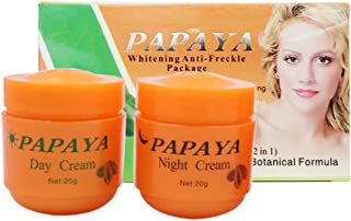 2 unidades de crema de blanqueamiento de papaya definida hidratante diluir manchas de rociador aclarante pigmentario rostr...