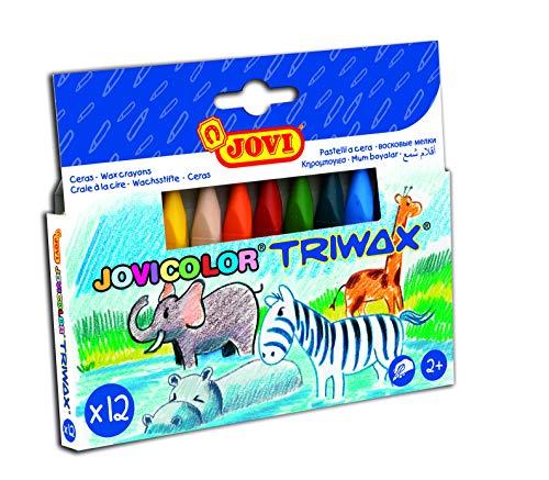 Joviv Trimax 146009 Pack de 12 ceras triangulares para dibujos