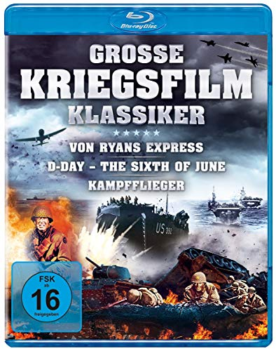 Große Kriegsfilm-Klassiker - Von Ryans Express, D-Day – The Sixth of June, Kampfflieger [Blu-ray]