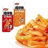 Weilong Latiao, Spicy Strip,Wei Long Konjac 20 Sachets / 360g Chinese Snack ,Chanmoyu,Moyushuang,卫龙辣条 馋魔芋 魔芋爽(Sichuan spicy麻辣)