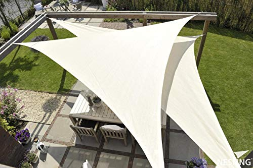 MaxxGarden - Toldo parasol para jardín balcón y terraza, resistente a la intemperie, HDPE, 5 x 5 x 5 m, color blanco