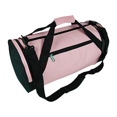 18″ Round Duffle Bag Flexible Roll Bag Gym Traveling Bag...