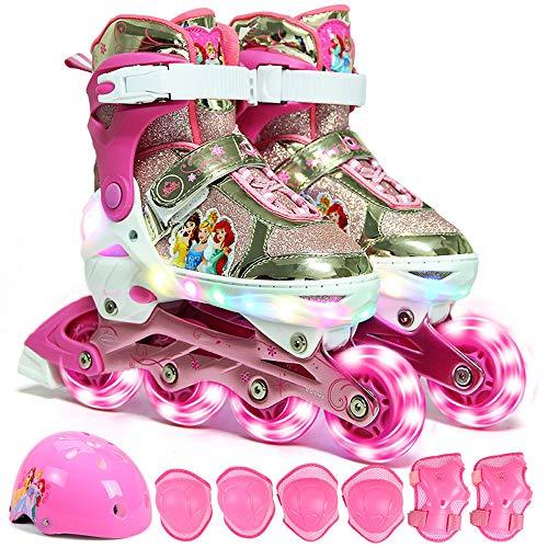 LED blinkende Rollschuhe, PU Aurora voll blinkenschlitt, Rollschuhe, bequem und atmungsaktiv, einstellbare Größe, für Jungen und Mädchen Geschenke