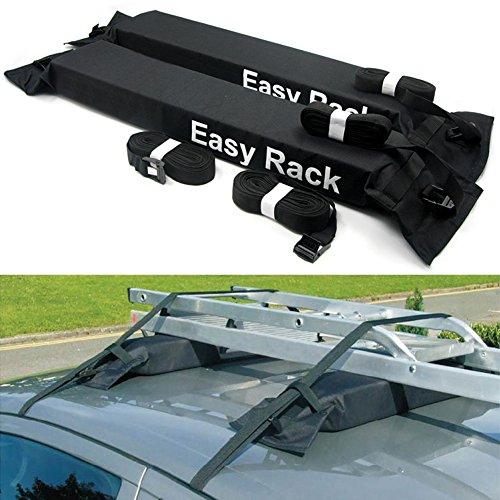 KKmoon Portabagagli Universale per Auto, Portapacchi Auto Morbido sul Tetto Caricare Un Bagaglio da 60kg, Easy Fit Rimovibile