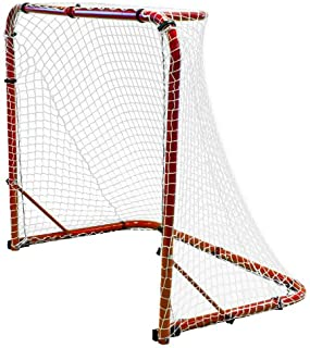 "Park & Sun Sports ""Street Ice Hockey Goal with Folding Steel Frame and Nylon Bungee Slip Net"