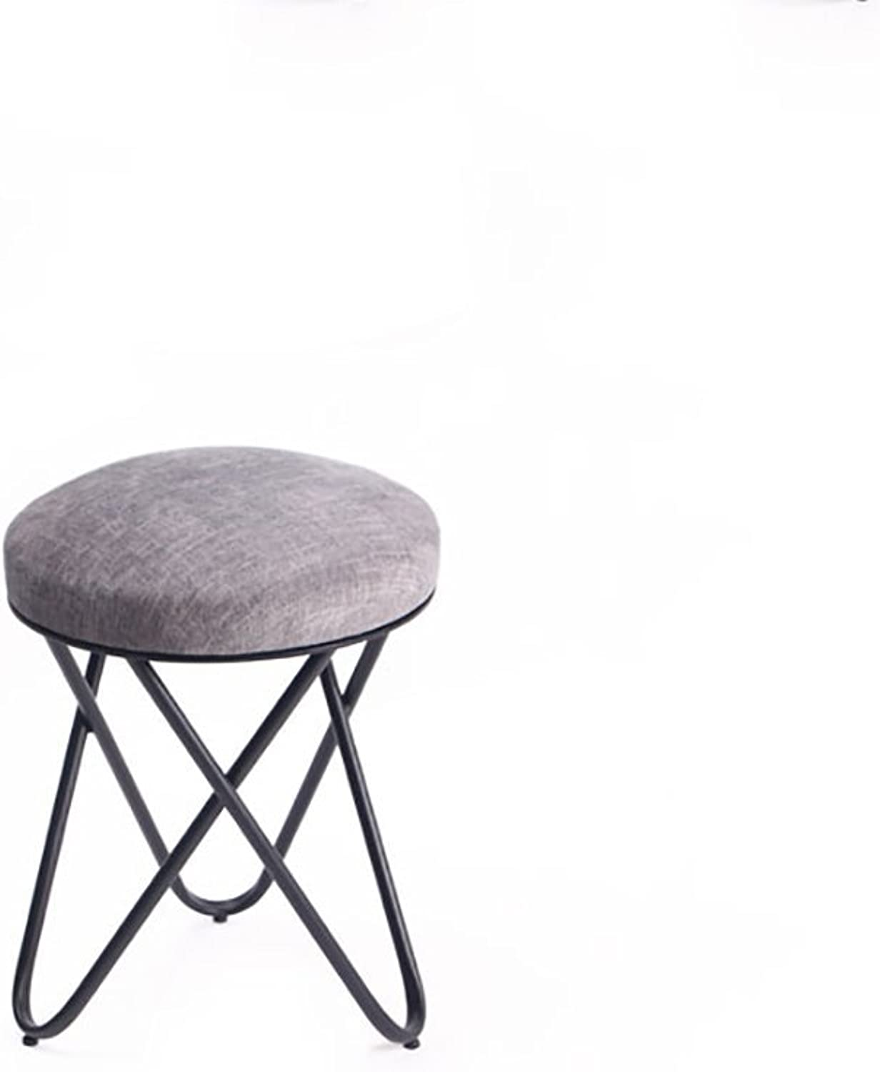 YUHUS HOME HOME HOME American makeup stool creative simple stool fabric sofa shoes stool iron dressing stool  small stool (color   F) 9f9c21