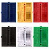 FULARR® 6Pcs Premium 170 Puntos Mini Breadboard Set, 6 Colores Sin Soldadura PCB Prototipo Placa, Experimental Prueba Breadboard para Arduino Proto Shield