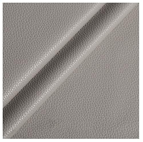 wangk Polipiel para tapizar, Manualidades, Cojines o forrar Objetos. Venta de Polipiel por Metros. Ancho 138cm Piel sintética para Asientos de Coche, sofá Multicolor-Gris Claro 25# 1.38x4m