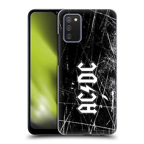 Head Case Designs sous Licence Officielle AC/DC ACDC Grunge Blanc Logo Coque Dure pour l'arrière Compatible avec Samsung Galaxy A02s (2021)