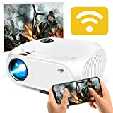 WiFi Wireless Projector 3800 Lumens, DIWUER Portable Mini Video Projectors for Home Outdoor Movies, USB Directly Connect with Smartphones, Support Full HD 1080P, USB, HDMI, VGA, AV, SD