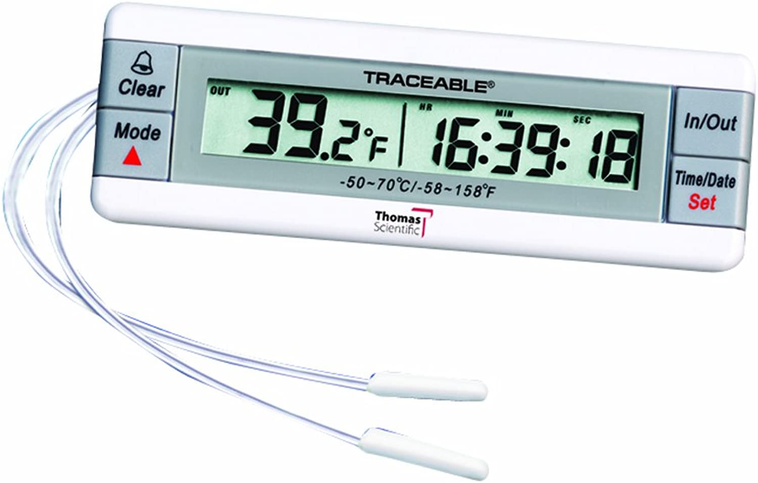 Thomas Traceable Dual Thermometer, with 2 Bottle Probes, -58 to 158 degree F