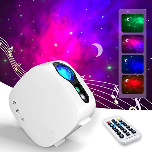 Galaxy Projector, ANWIKE Star Projector with Bluetooth Speaker, Night Light with Remote Control, Nebula Galaxy Light Projector for Bedroom Decor Ceiling, Skylight Projector for Party and Date