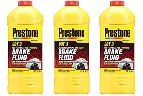 Prestone AS401 DOT 3 Synthetic Brake Fluid - 32 oz, 3 Count