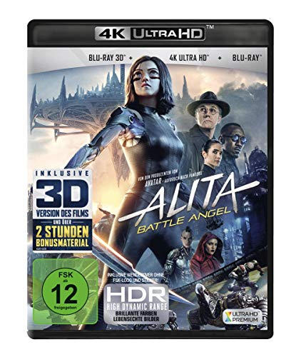 Alita - Battle Angel (4K Ultra HD) (+ Blu-ray 3D) (+ Blu-ray 2D)