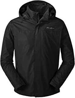Eddie Bauer Men's Rainfoil Packable Jacket, Black Regular S