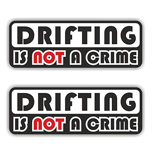 folien-zentrum 2X Drifting is not a Crime Aufkleber Shocker Hand Auto JDM Tuning Dub Decal Stickerbomb Bombing Sticker Illest Dapper Fun Oldschool