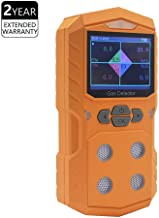 4 Gas Detector Portable Multi Gas Detector Monitor Color Display with Graphing Rechargeable Battery Sound Light Alarm 4 in 1 Gas Analyzer