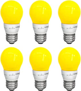 BESLAM 5w Yellow Bulb LED Color Bulb Indoor/Outdoor Use 40w Equivalent, Non-Dimmable Decorative Bulbs for Porch Decorative Lighting Festival Decoration, Night Light Bulbs Medium Screw Base E26, 6 Pack