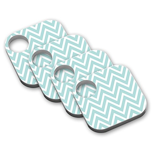 MightySkins Skin Compatible with Beats by Dr. Dre Pill Plus - Aqua Chevron | Protective, Durable, and Unique Vinyl Decal wrap Cover | Easy to Apply, Remove, and Change Styles | Made in The USA