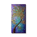 WZYYHH 100% Handgemaltes Ölgemälde Abstrakte Goldene Blume Home Dekoriert Bilder Für Wohnzimmer Wand Keine Eingerahmte Kunst