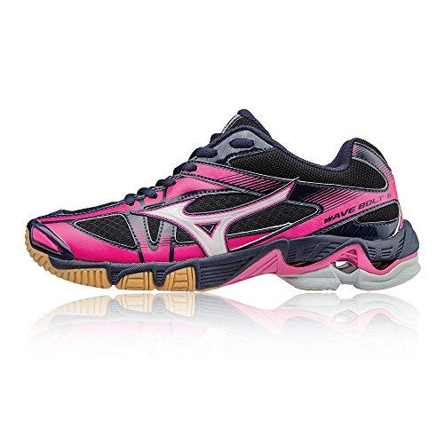 Mizuno Mizuno Damen Wave Bolt 6 WOS Laufschuhe, Mehrfarbig (Blackwhitepeatcoat), 38 EU