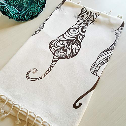 Secret Sea Collection, Lightweight Peshtemal Beach & Bath Towel, Bamboo (62'' x 35'')...