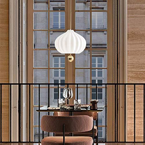 DONGYAN Comedor Moderno Lámpara Colgante de Oro Metal Suspensión Ligera Luz Blanca Vidrio Colgante Lámpara Altura Ajustable Ajarzas Ajarzas Sala de Estar Cuarto de Comedor Hotel