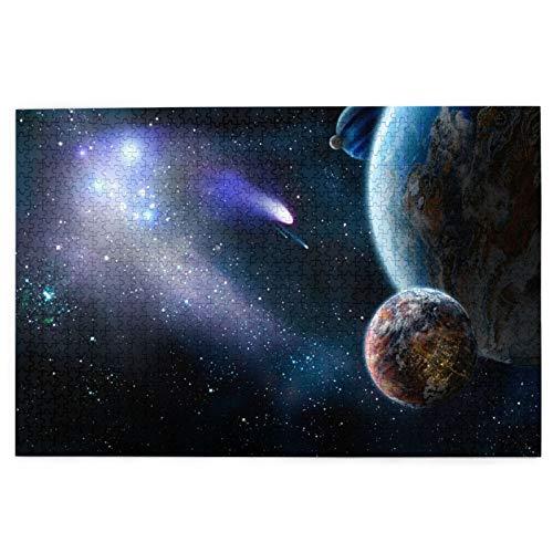 Rompecabezas de 1000 Piezas,Rompecabezas de imágenes,Grupo de Cometas Ataques espaciales Planetas de Paz,Juguetes Puzzle for Adultos niños Interesante Juego Juguete Decoración para El Hogar