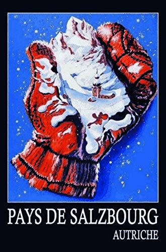 FS Salzburger Land Oostenrijk handschoenen ski metalen bord gebogen metalen teken 20 x 30 cm