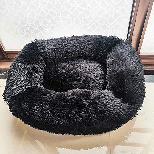 Rund Cara Y Perro Cama Acogedora Peluche Canasta De Calma Plaza Cat Nest Nest Invierno Soft Warm Sleeping Mat House para Pequeños Perros Grandes Donut Cuddler Mascota Mater