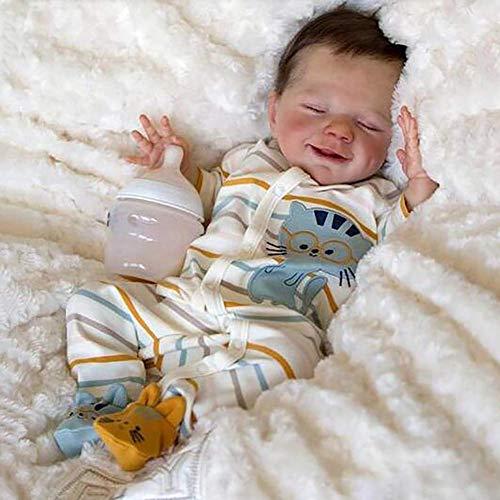 ZHANGYY Muñecas Reborn 47cm Muñeca Recién Nacida e Bebé Silicona Cuerpo Completo Realista e Recién Nacido Bebés Renacidos Muñeca para Dormir para Niños Pequeños Regalos