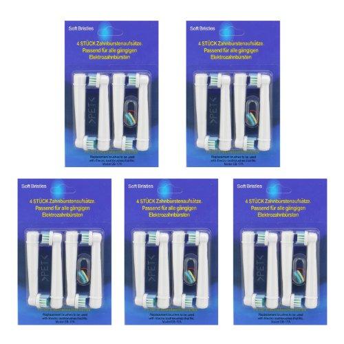 KongKay® 20 PCS EB17 la cabeza de cepillo de dientes reemplazadas compatibles...