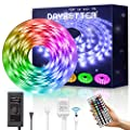 Daybetter Waterproof Led Strip Lights Flexible Color Change RGB with Remote Controller and 12volts Power Supply for Bedroom, Kitchen, Home Decoration