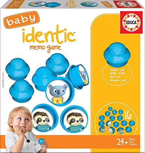 Educa- Baby Identic Memo Game Juego Educativo de Memoria para Bebés, Multicolor (18124)