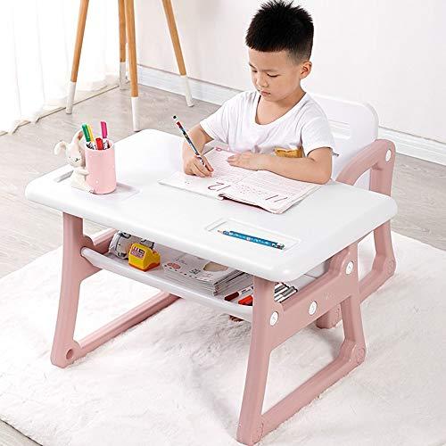 VBARV Mesa de Estudio para niños, Escritorio Funcional para niños y Juego de sillas, con cajón de Almacenamiento, sobremesa fácil de Limpiar, Duradero, Adecuado para familias