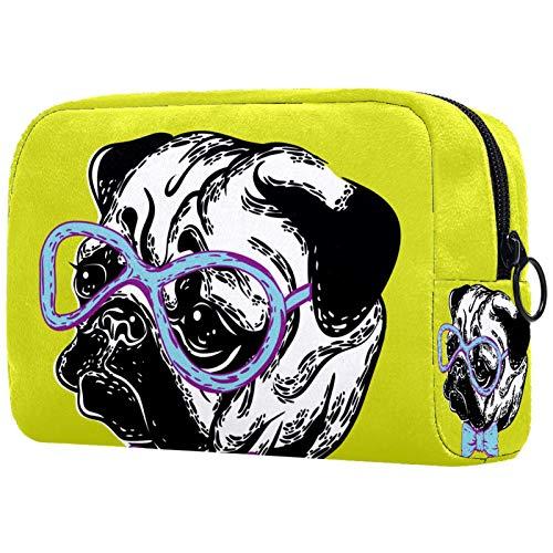 Bolsas de Aseo Gafas para Perros Hombres y Mujeres Bolsa de Almacenamiento de Viaje Suave al Tacto de Impresa Personalizada 18.5x7.5x13cm