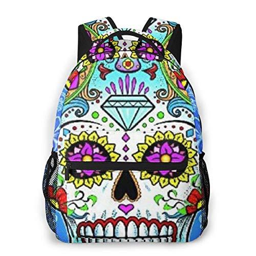 Lawenp Mochila Casual Multifuncional, Mochila de Moda, Mochila Linda 11.5 X 16 '' '' X 8 '' '' Toalla de Roca Sugar Skull