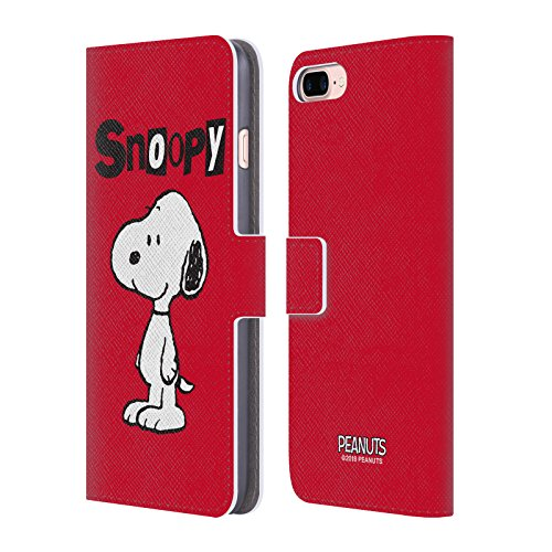 Head Case Designs Officially Licensed Peanuts Snoopy Characters Leather Book Wallet Case Cover Compatible with Apple iPhone 7 Plus/iPhone 8 Plus