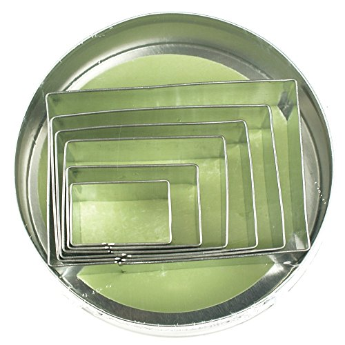 Fox Run 3611 Rectangle Cookie cutters, 4 x 4 x 1 inches, Metallic