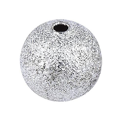 Perlen, diamantiert | zum Auffädeln, Basteln, Herstellen von DIY-Schmuck, wie Armbänder, Ketten, UVM. (Silber | Ø 6mm | 150 Stück)