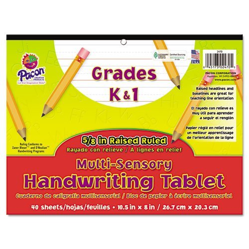 Multi-Sensory Handwriting Tablet, 10-1/2 x 8, 40 Sheets/Pad, Sold as 1 Pad, 40 Sheet per Pad by Pacon