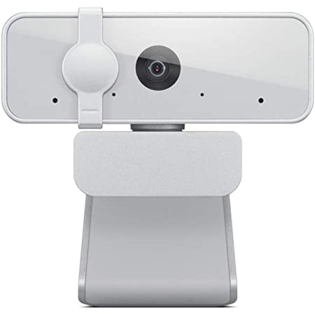 Lenovo™ 300 FHD Webcam with Full Stereo Dual Built-in mics | FHD 1080P 2.1 Megapixel CMOS Camera |Ultra-Wide 95° Lens, 4X Digital Zoom | 360° Rotation | Flexible Mount (GXC1B34793)