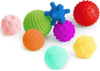 Coolle- Textured Multi Ball Set, Tactile Sensory Ball, Bath Balls Toys, Baby Grab Ball, Sensory Balls for Toddlers Babies ...