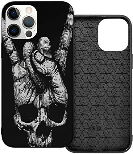 Phone Case Sugar Skull Angel On Black iPhone 12/12 Pro/12 Pro MAX /12 Mini(2020),Liquid TPU Silicone Gel Full Body Shockproof Drop Protection Case Beautiful and Handsome