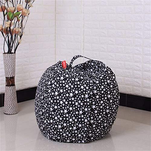 Youngshion Kinder Spielzeug Aufbewahrung Sulotion Sitzsack Canvas gefüllt Plüsch Tier Sack Organizer Stuhl für Quilt, Kleidung Decken, canvas, Sterne, 81,3 cm