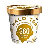 Halo Top, Chocolate Chip Cookie Dough Ice Cream, Pint (4 Count)