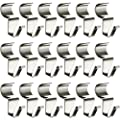 No-Hole Needed Vinyl Siding Hooks for Outdoor Decorations 18 Pack, Heavy Duty Stainless Steel Low Profile No-Hole Hangers from Alivoi