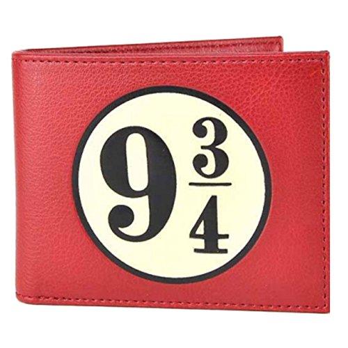 Pritties Accessories Warner Bros Harry Potter Platform 9 3/4 Hogwarts Bi-Fold Wallet en caja roja