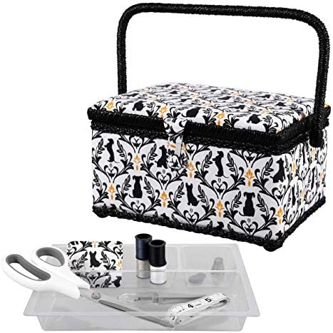 SINGER Sewing Basket with Sewing Kit Needles Thread Scissors and Notions White product image