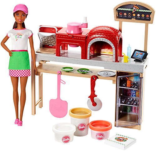 Barbie Pizza Chef Doll and Playset, Castaño